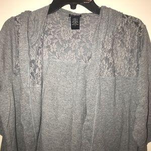 Torrid size 2 gray crop hoodie